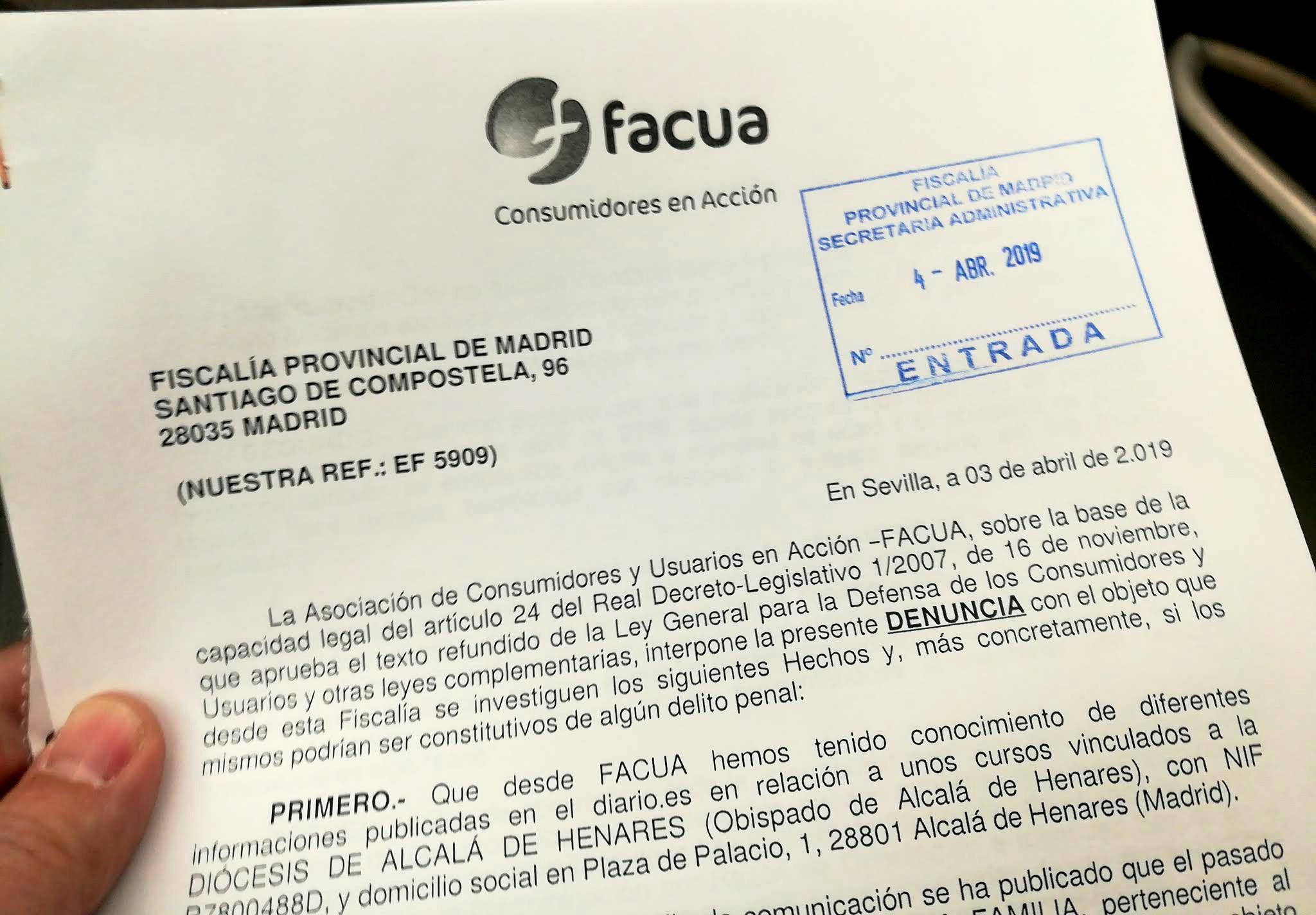 FACUA denuncia en la Fiscalía las seudoterapias homófobas del Obispado de Alcalá de Henares
