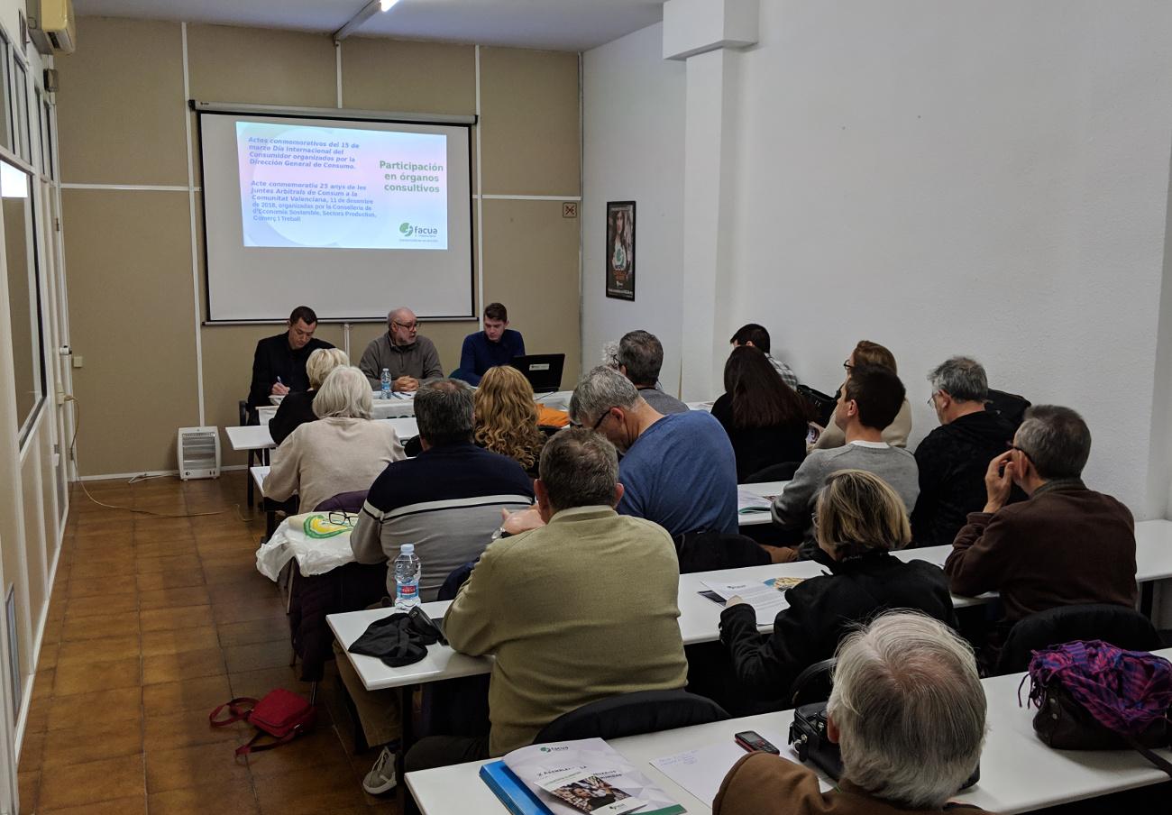 FACUA Comunidad Valenciana celebra su 10ª Asamblea General de Socios