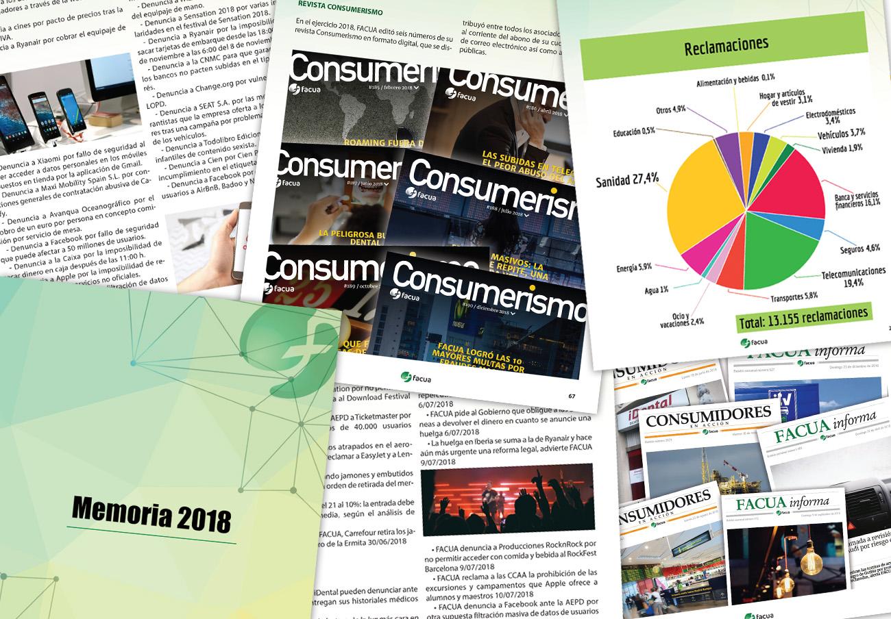 Transparencia: FACUA publica su 'Memoria 2018' con su balance de actuaciones y sus cuentas anuales