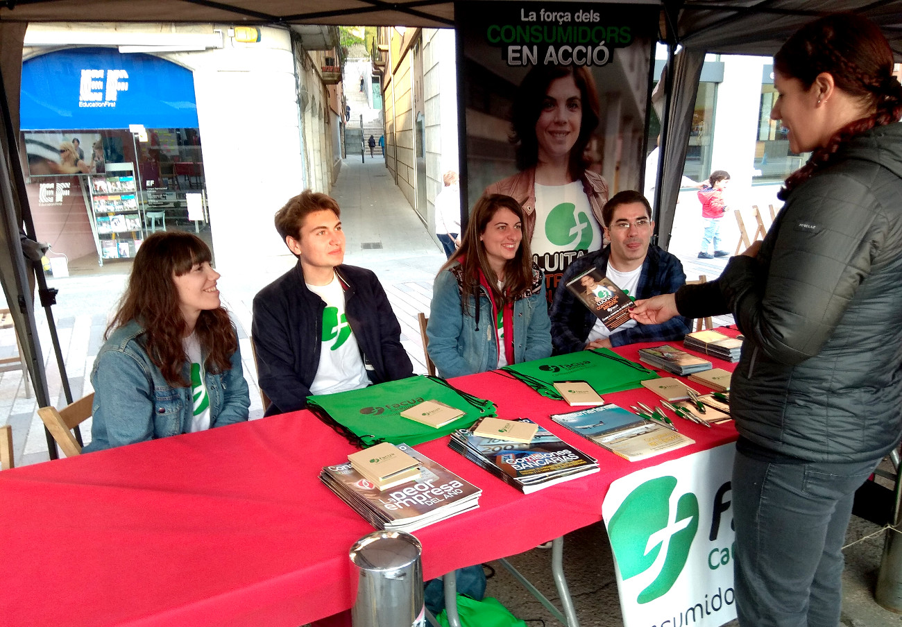 FACUA Catalunya, presente en la 19ª edición de la Feria de Entidades de Voluntariado Social de Girona
