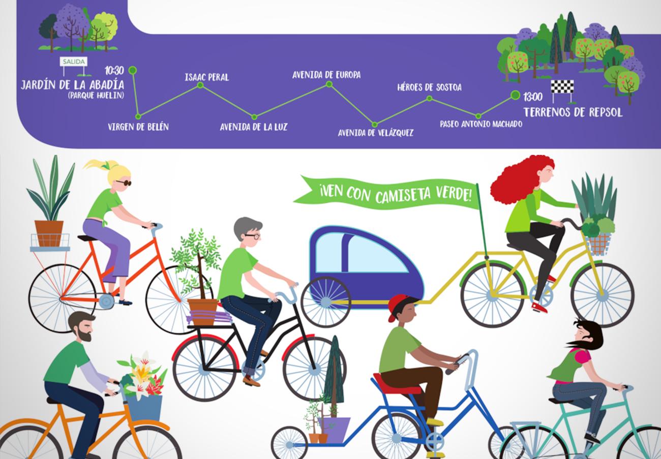 FACUA Málaga se une a la IV Marcha en Bici por un pulmón verde para la capital