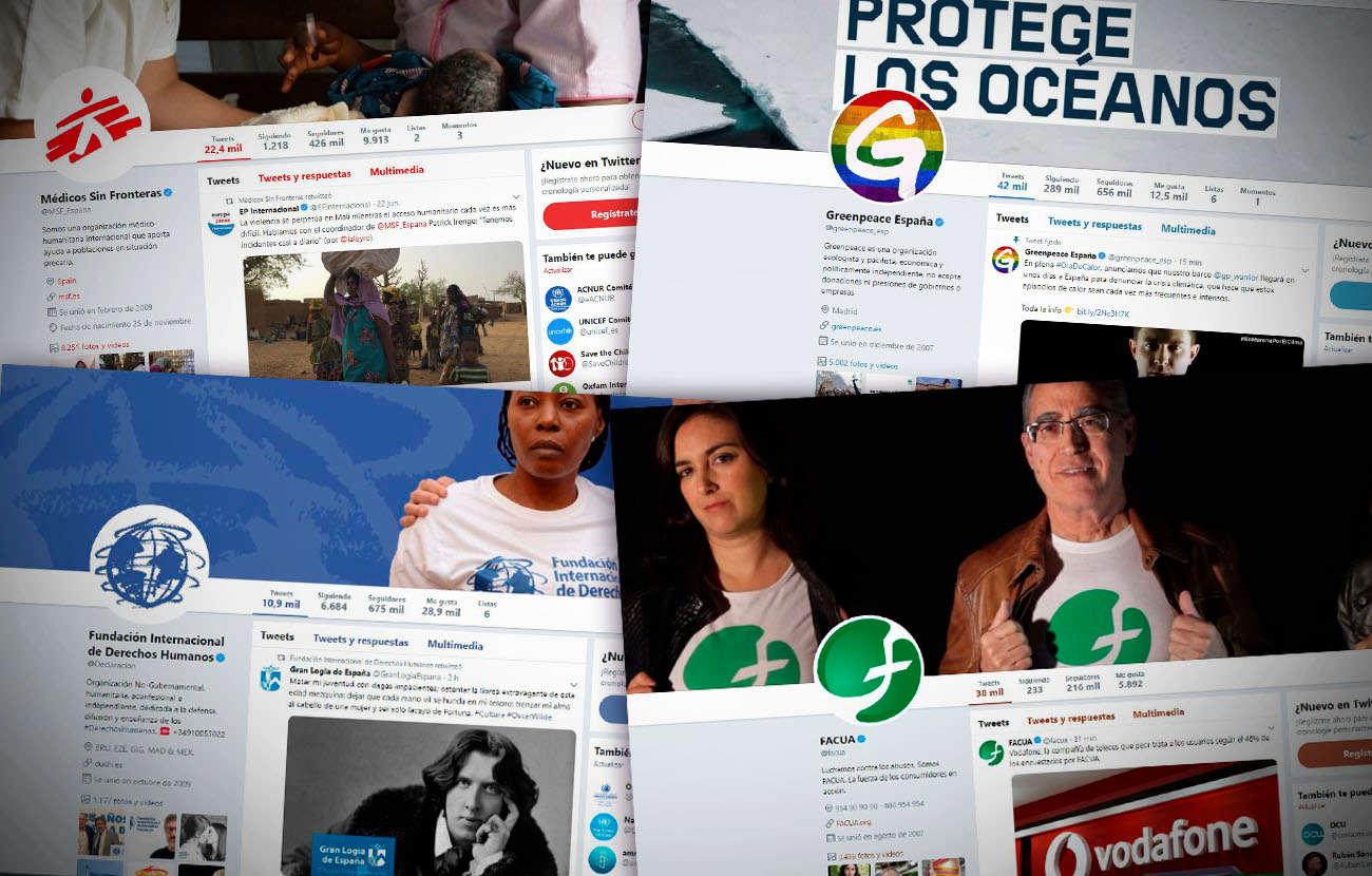 Éstas son las 10 ONG españolas con más seguidores en Twitter en 2019