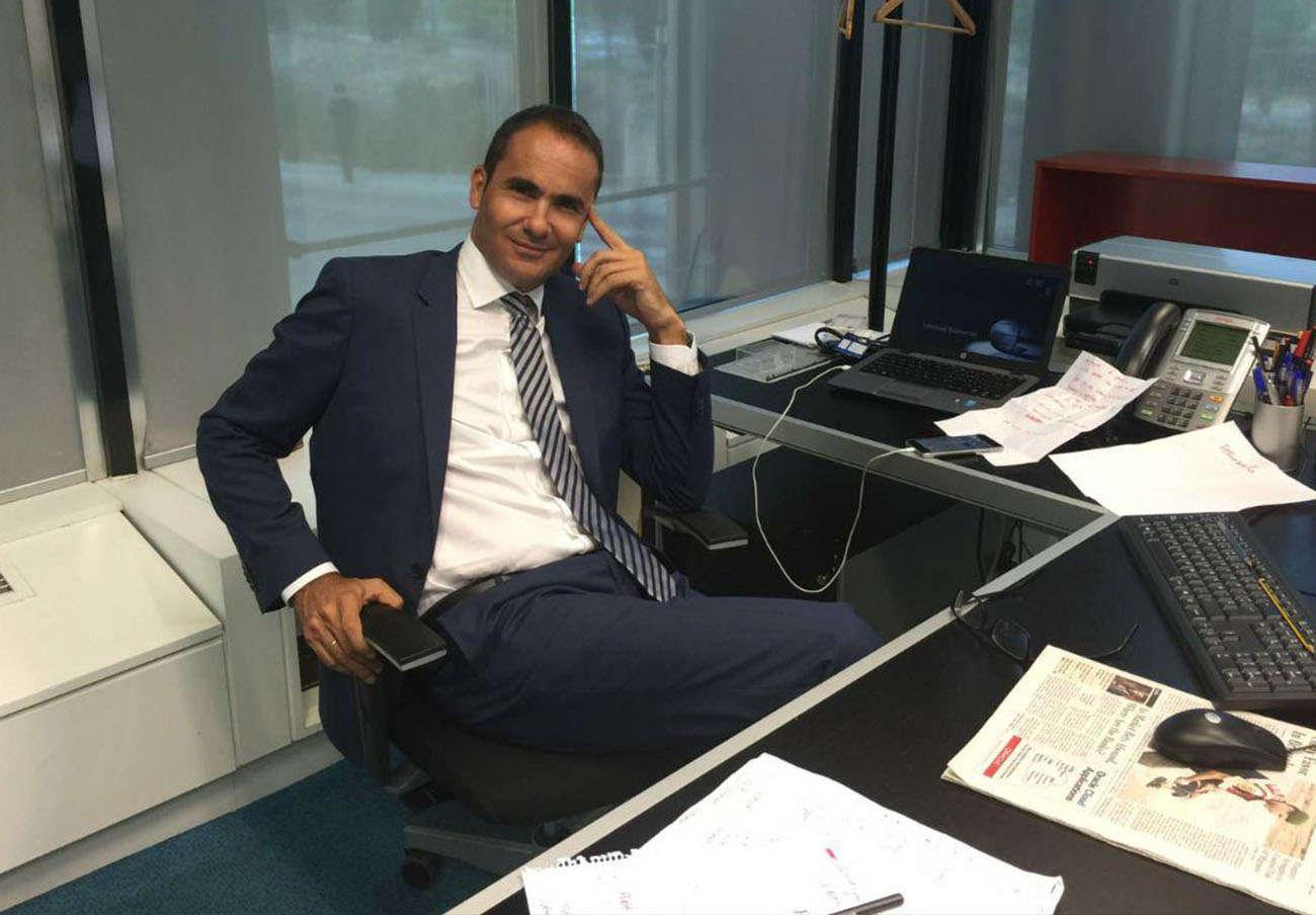 David Jiménez en el despacho que ocupó como director del diario El Mundo.