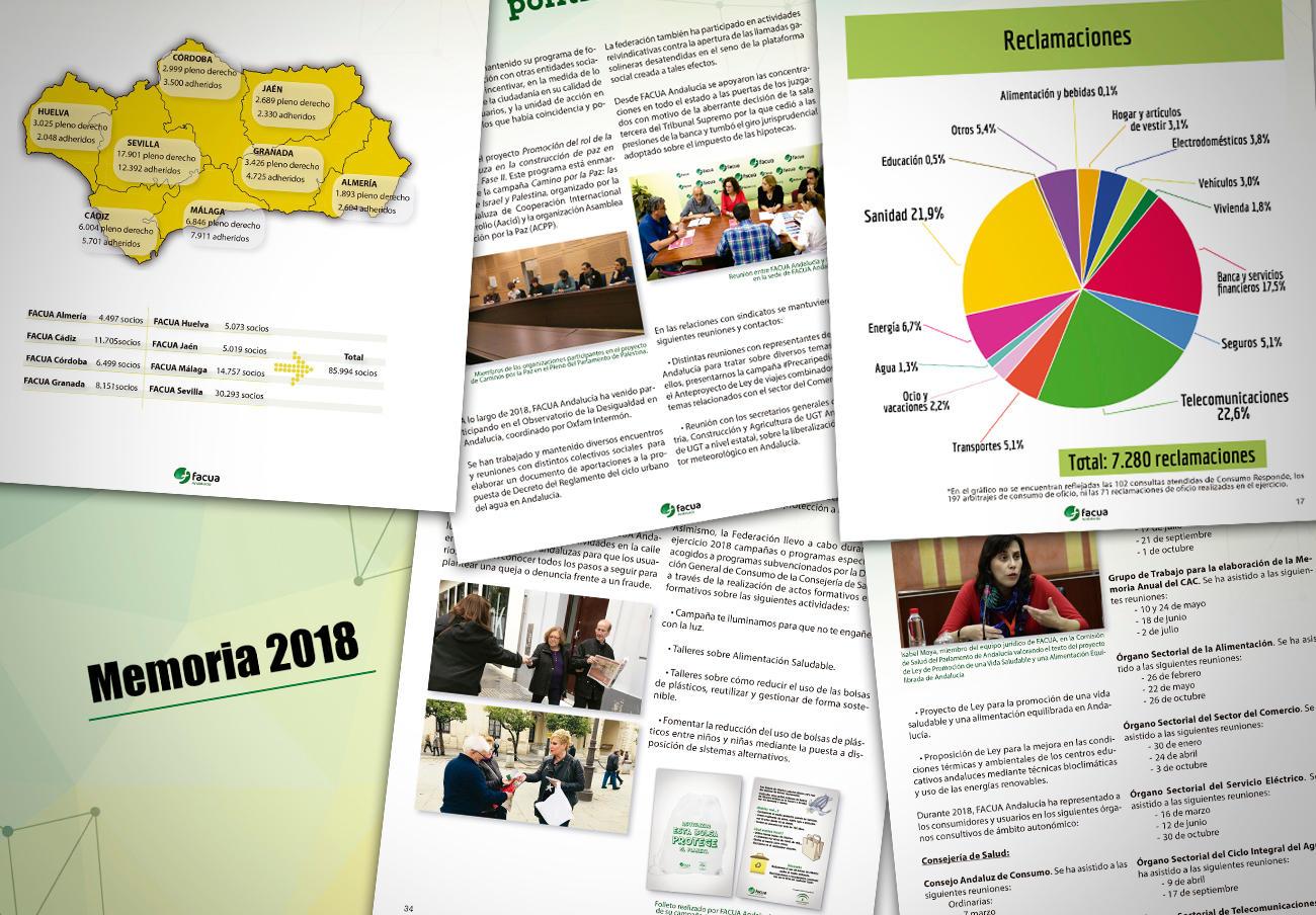 FACUA Andalucía publica su 'Memoria 2018'