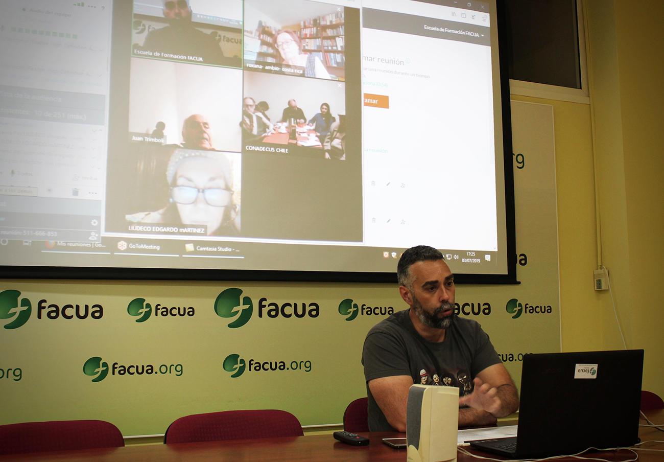 La Fundación FACUA imparte tres sesiones formativas a seis organizaciones latinoamericanas