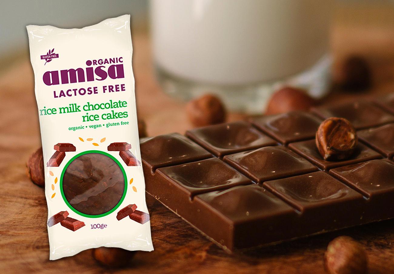 Detectan leche no declarada en tortitas de arroz cubiertas de chocolate con leche de arroz Organic Amisa