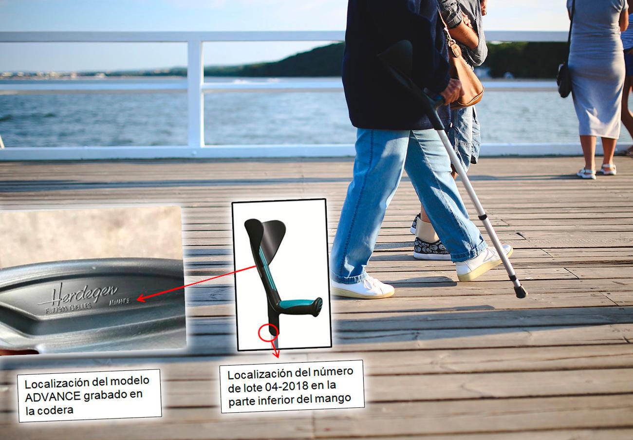 FACUA alerta de la orden de retirada de muletas Advance de Herdegen por riesgo de caída del usuario
