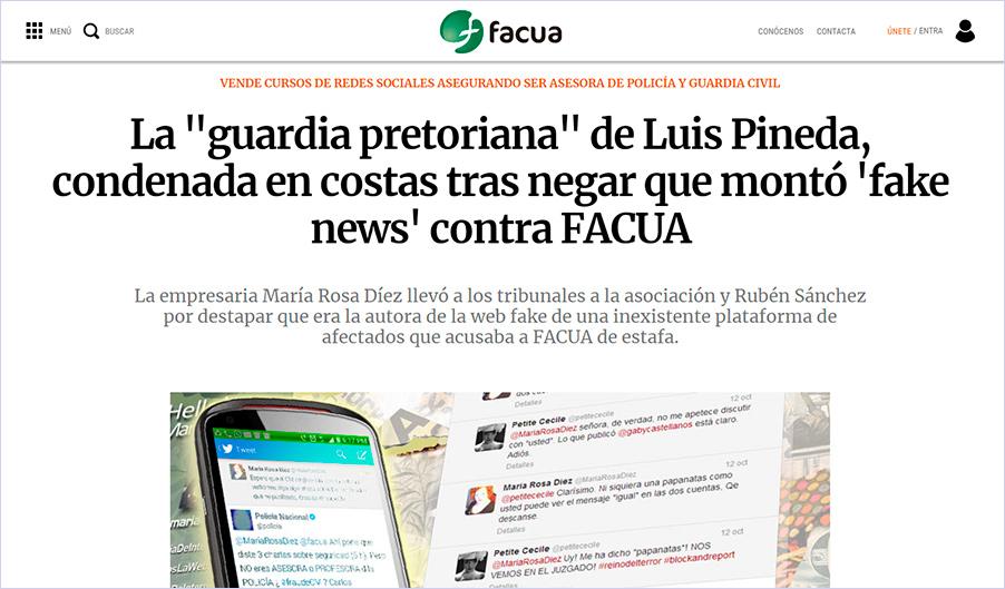 La empresaria condenada en costas por la Audiencia Provincial de Madrid contesta a FACUA