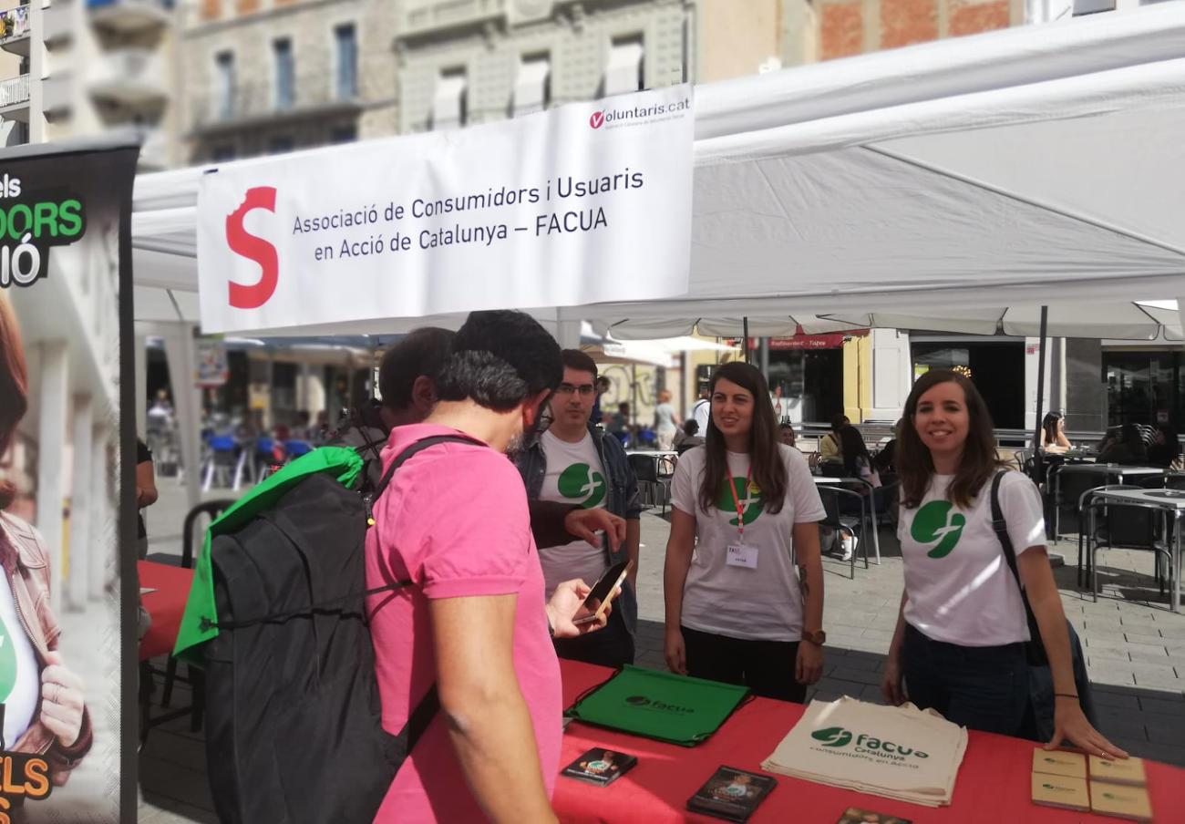 FACUA Catalunya acude un año más a la feria de voluntariado TAST Social de Tarragona