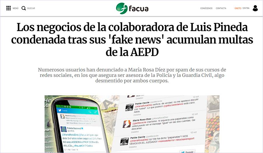 La empresaria multada por la Agencia Española de Protección de Datos contesta a FACUA