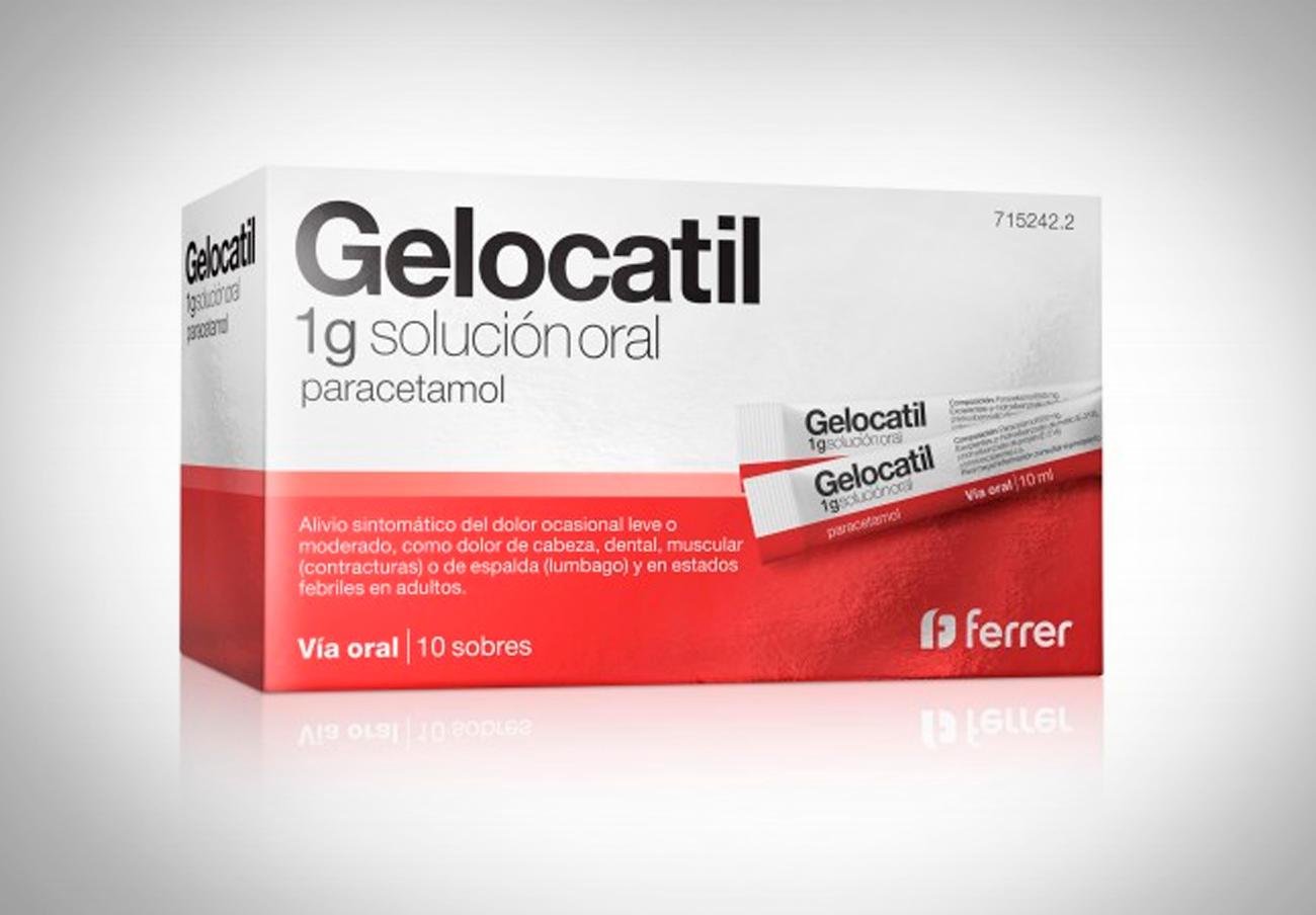 Sanidad ordena retirar un lote de Gelocatil 1g en sobres por un error en el etiquetado