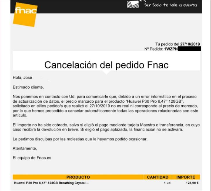 """FACUA denuncia a Fnac por no entregar miles de móviles con la excusa de un """"error informático"""""""