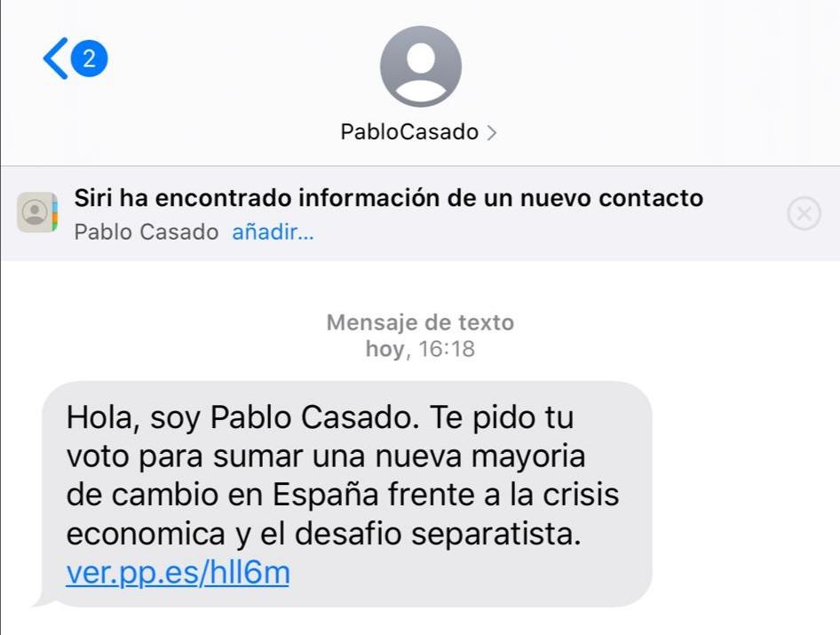 FACUA pide a Protección de Datos que investigue los SMS de Pablo Casado