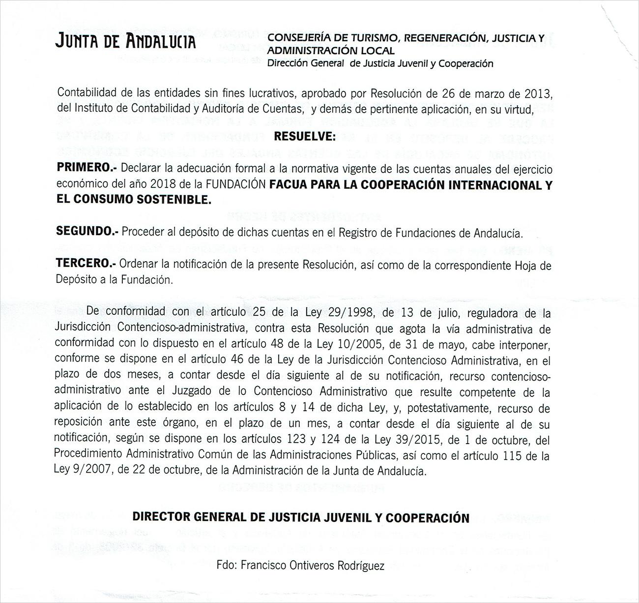 Una resolución de la Junta desmonta una noticia falsa de 'Abc' sobre las cuentas de la Fundación FACUA