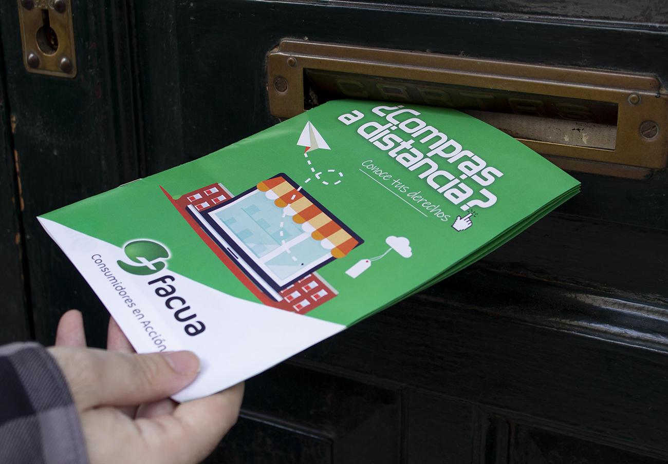 FACUA distribuye cerca de 400.000 guías sobre comercio electrónico en los hogares de 16 capitales