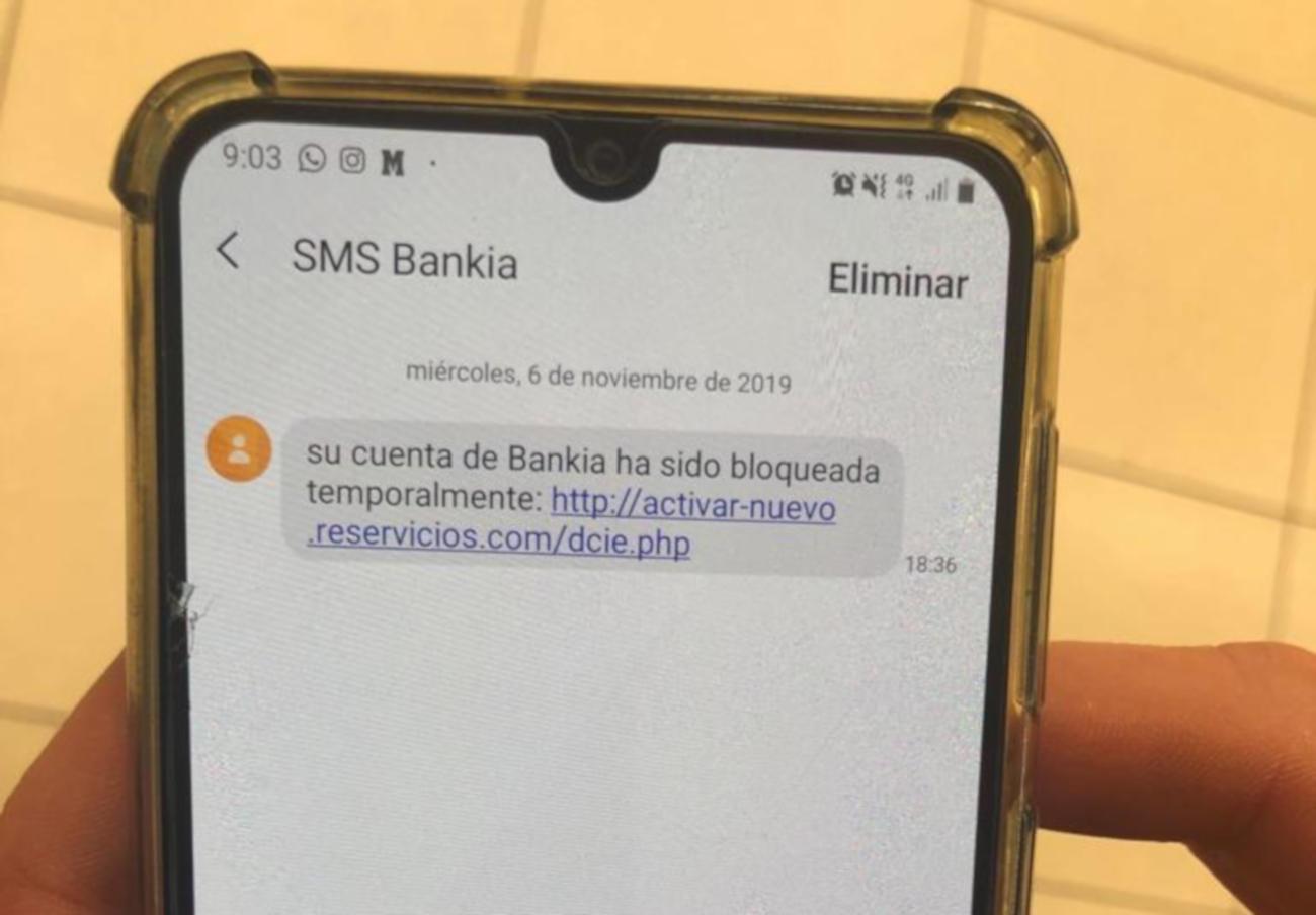 Alerta fraude: un SMS simula ser de Bankia para hacerse con datos personales de los usuarios