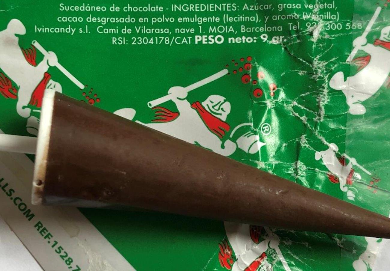 Alertan de la presencia de leche, soja y frutos secos no declarados en chocolatinas con forma de paraguas