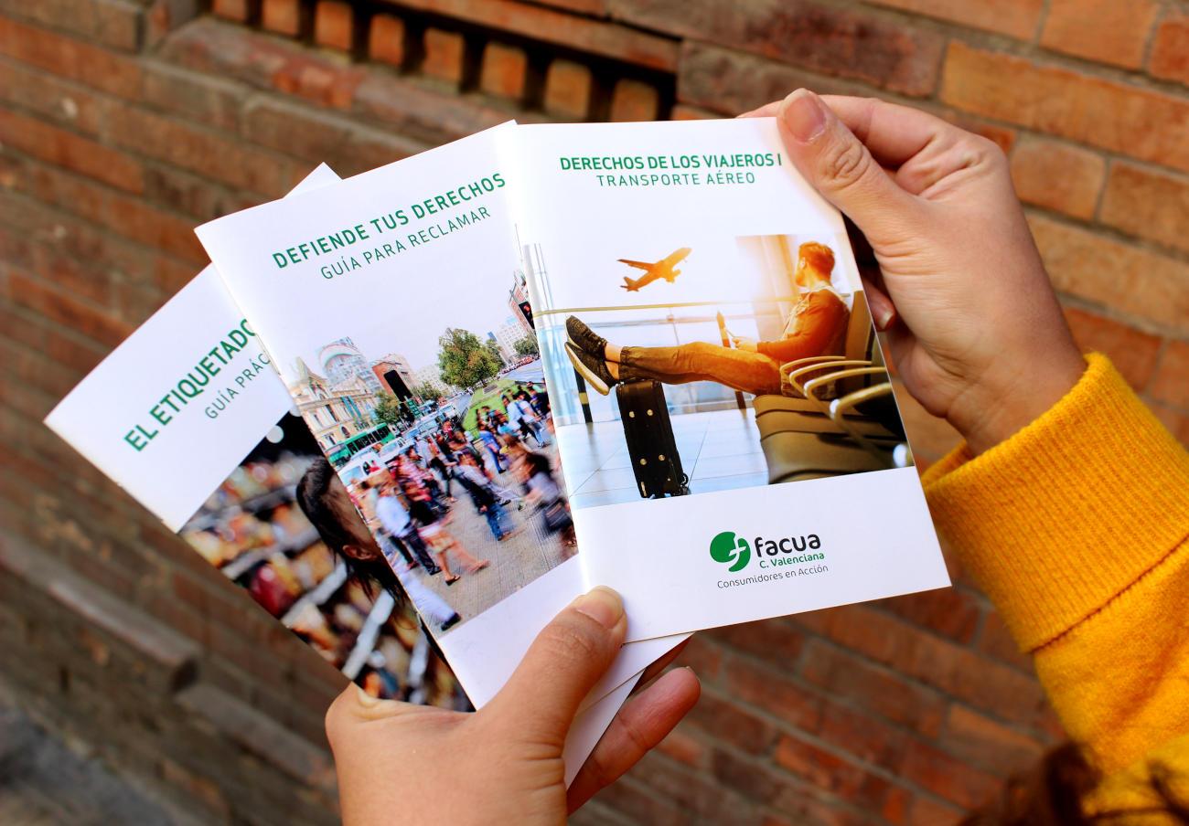 FACUA Comunidad Valenciana edita varias guías sobre derechos de los usuarios en distintos sectores