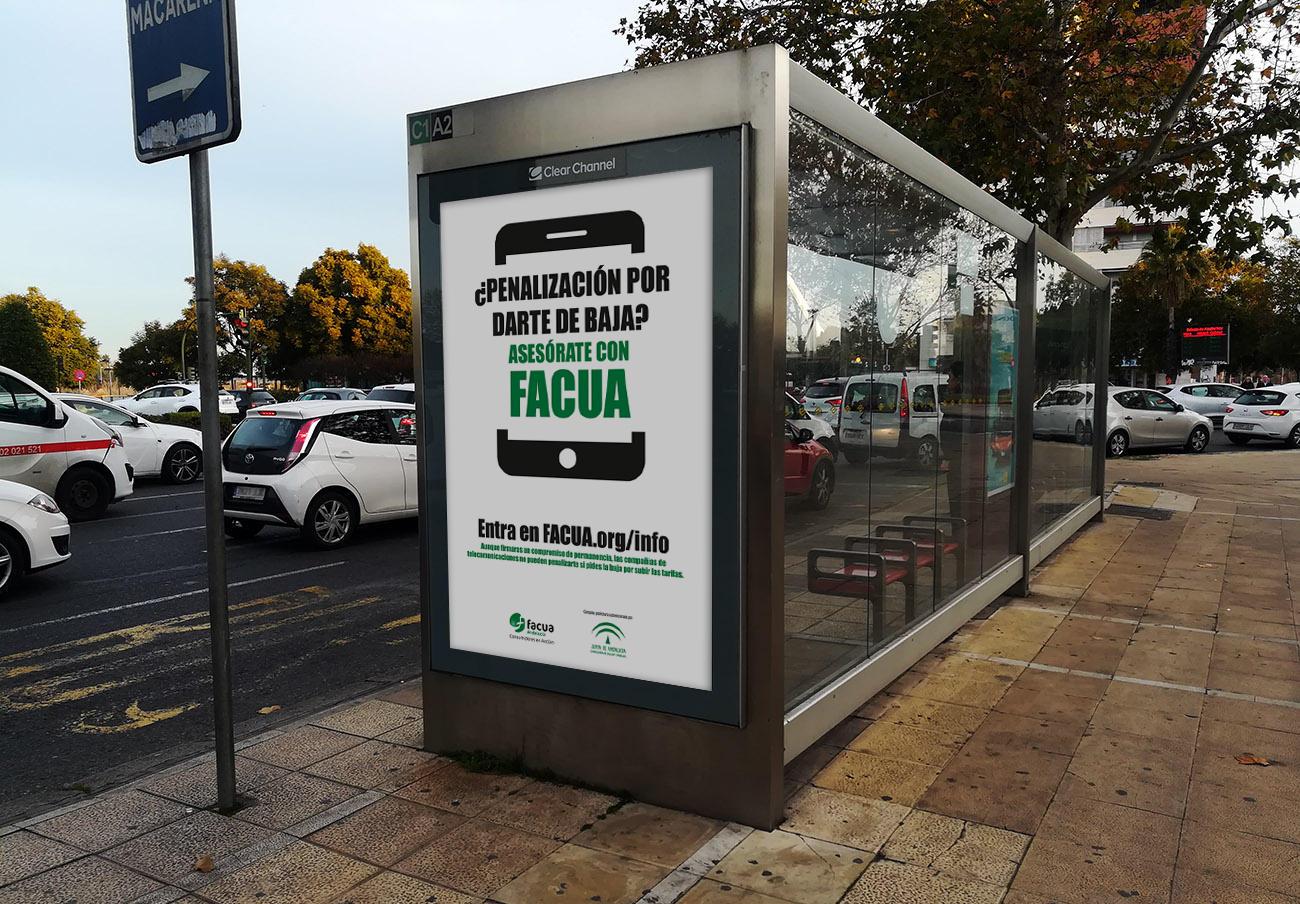 FACUA lanza una campaña publicitaria contra los fraudes de las telecos en las ocho capitales andaluzas