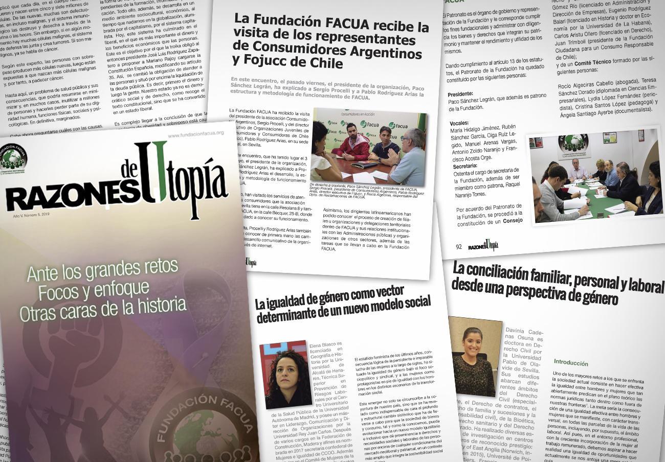 La Fundación FACUA publica el quinto número de su revista 'Razones de Utopía'
