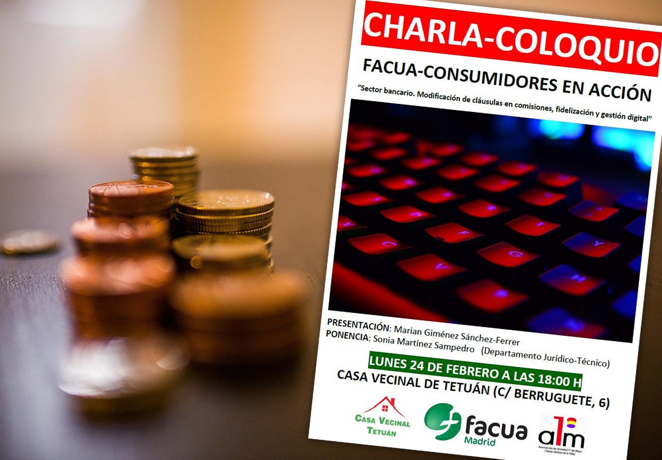 FACUA Madrid ofrece una charla sobre los cambios en el sector bancario y su gestión digital