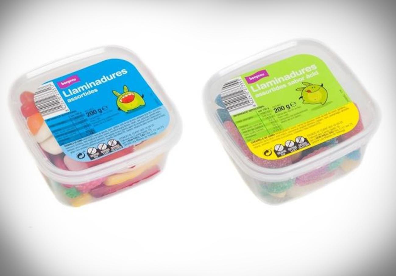Alertan de la presencia de proteína láctea no declarada en gominolas de la marca Bonpreu