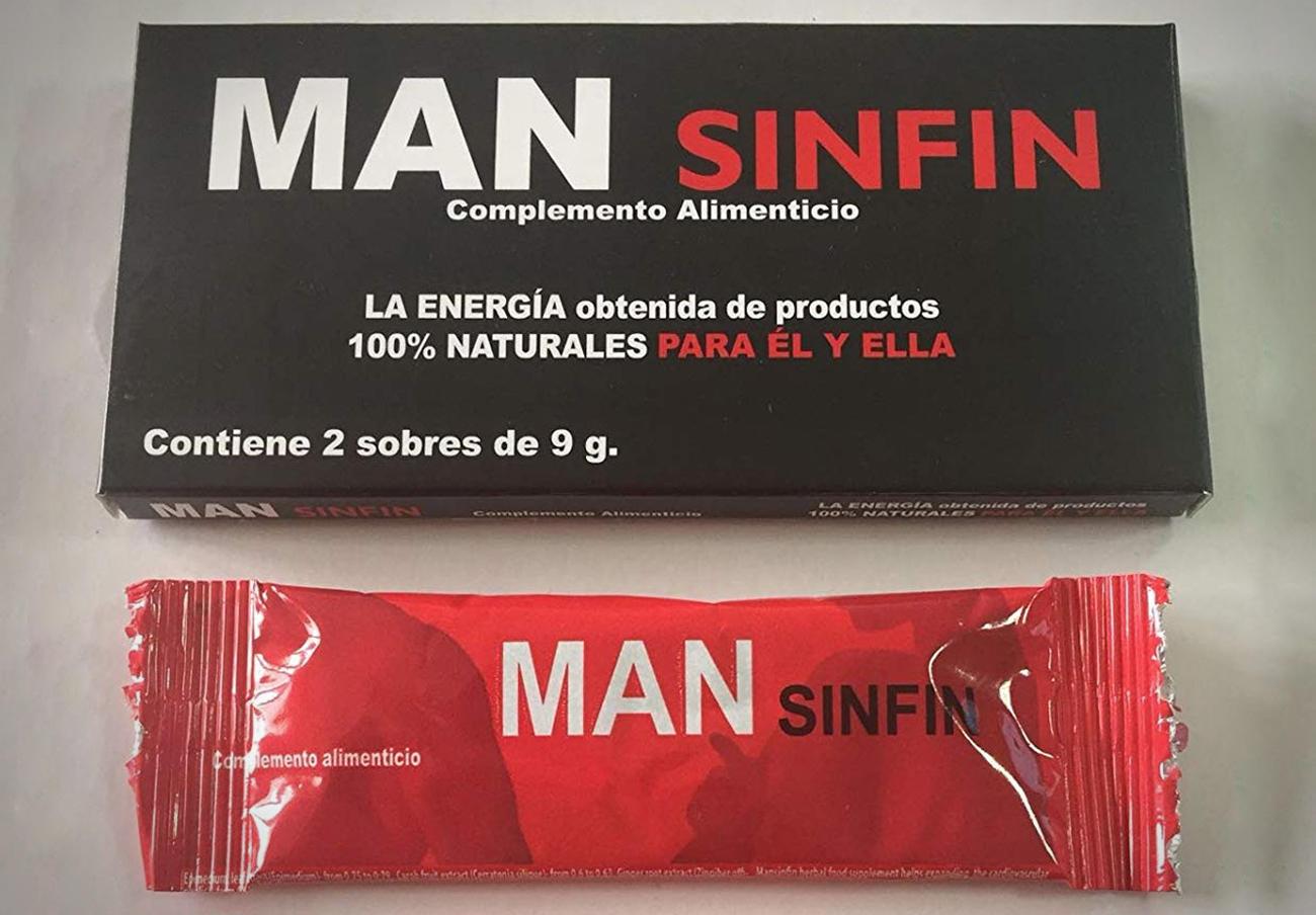 Sanidad ordena retirar el complemento alimenticio Man Sinfin al contener el principio activo de la Viagra