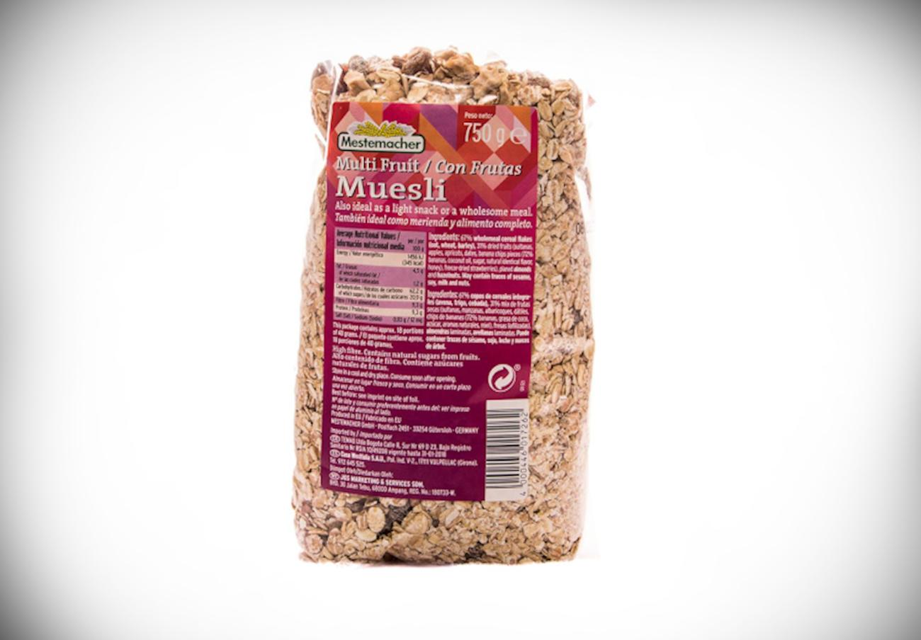 Alertan de la presencia de trazas de cacahuete no declaradas en muesli con frutas marca Mestemacher