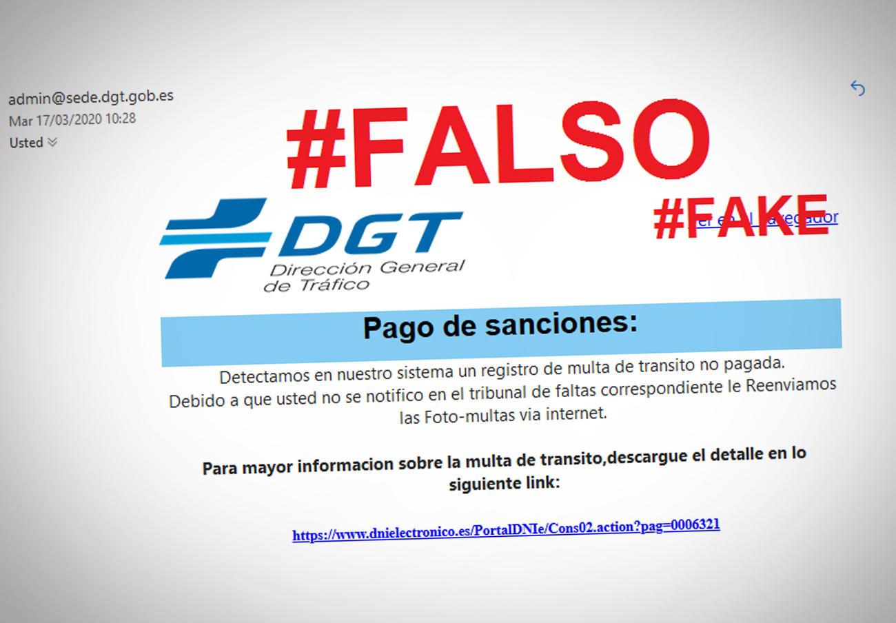 Un fraude que suplanta a la DGT notifica multas no pagadas falsas para conseguir datos de los usuarios