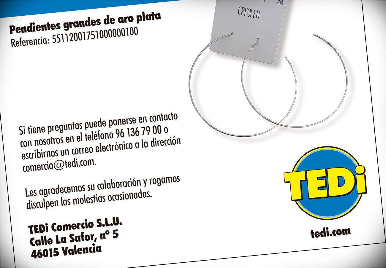 FACUA alerta de la retirada de unos pendientes plateados de TEDi por su alto contenido en níquel