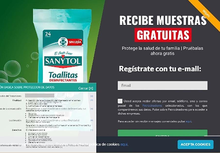 Alertan de una campaña que suplanta a Sanytol para conseguir datos personales de usuarios