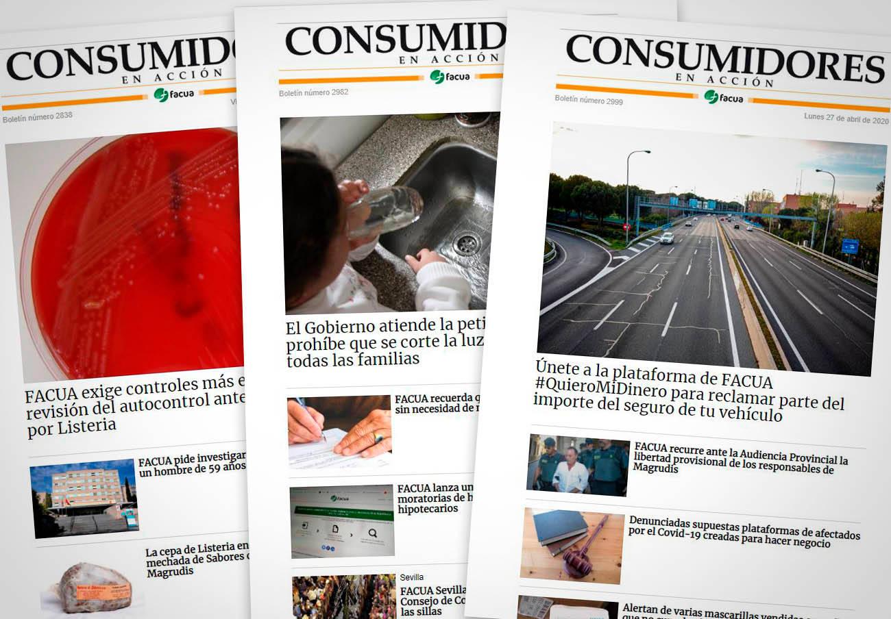 FACUA publica el número 3.000 de su boletín de noticias 'Consumidores en Acción'