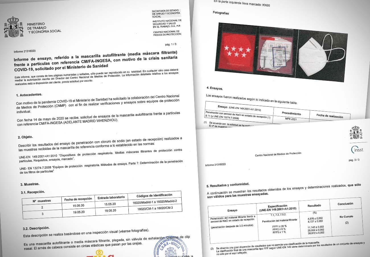 La Comunidad de Madrid sigue sin tomar medidas ante las irregularidades detectadas en sus mascarillas