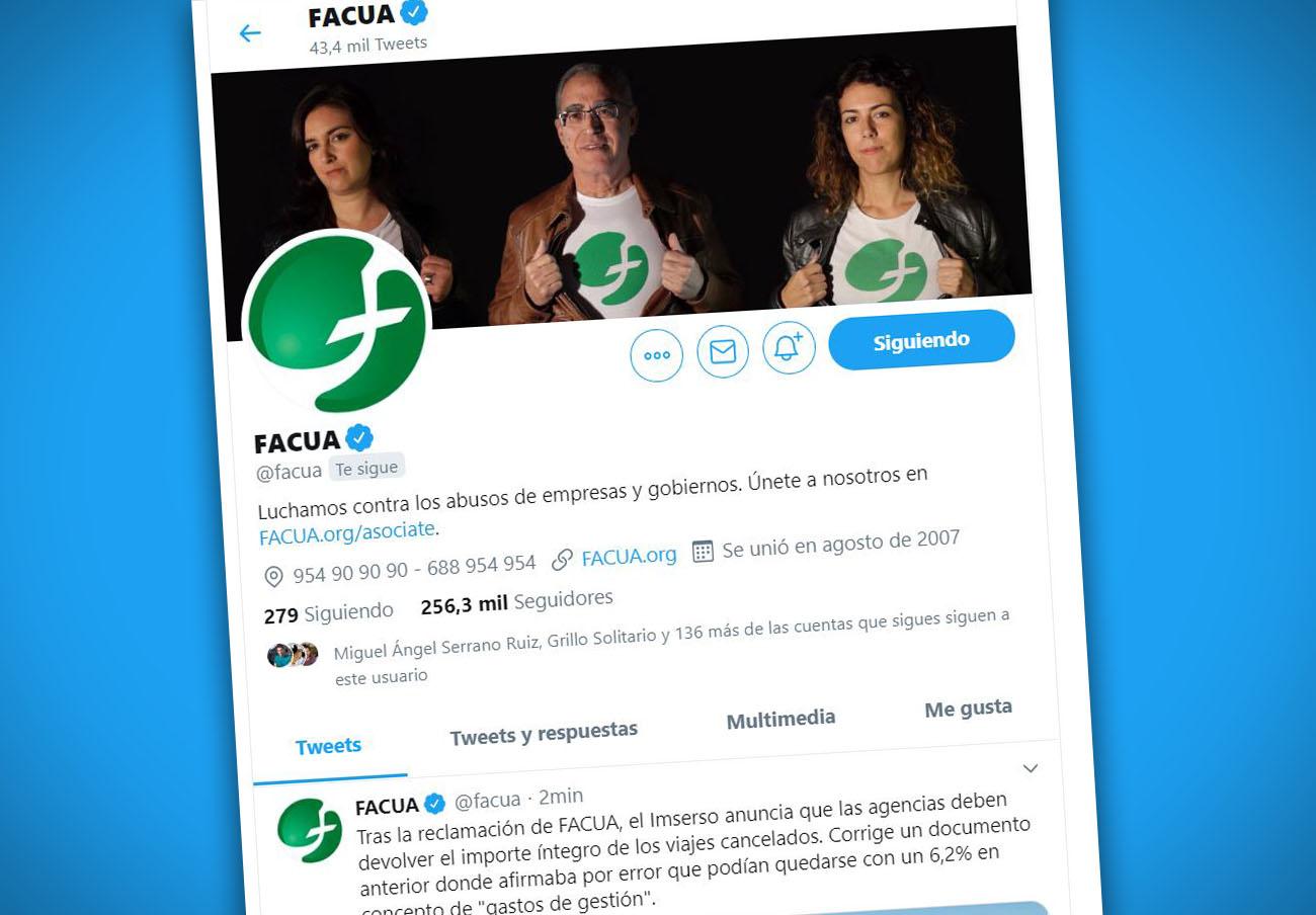 FACUA ya es la organización de consumidores con más seguidores en Twitter a nivel mundial