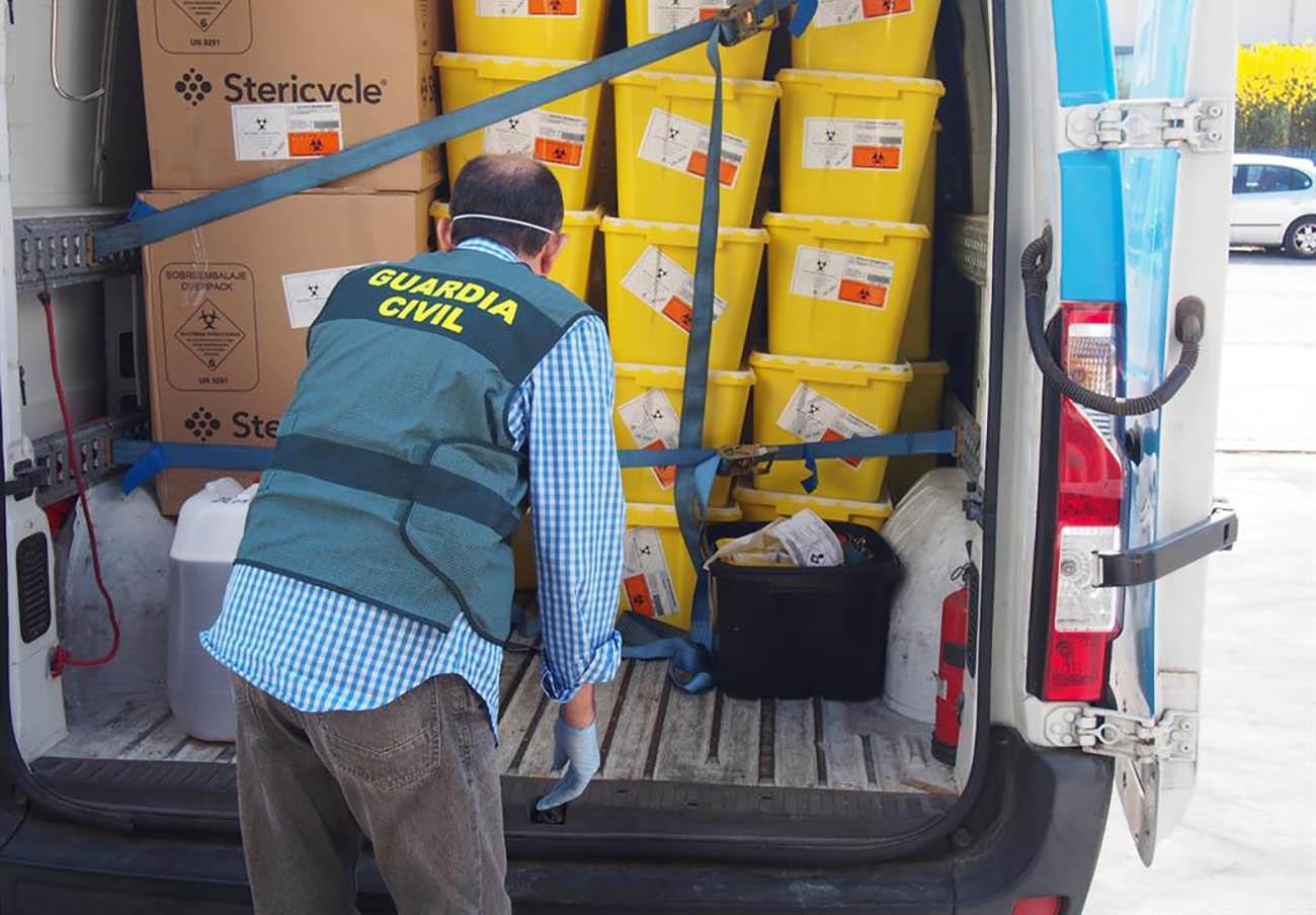 Detenidas 44 personas por graves irregularidades en la gestión de residuos sanitarios del Covid-19