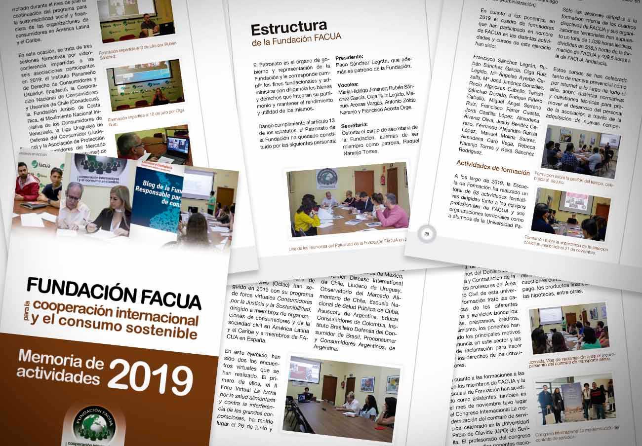 La Fundación FACUA publica su 'Memoria 2019'