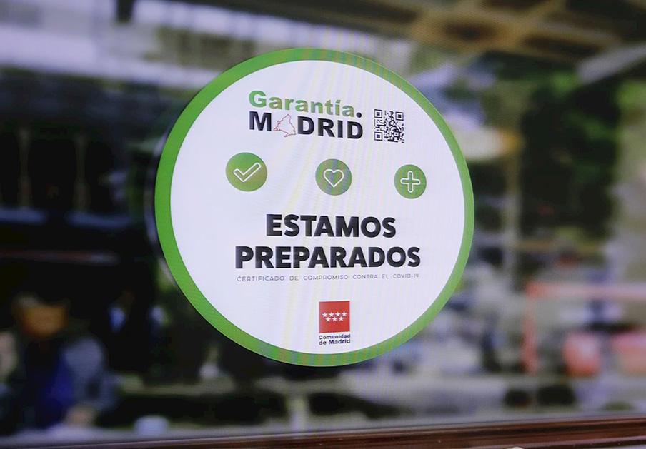 Sello 'Garantía Madrid'. | Imagen: Europa Press.