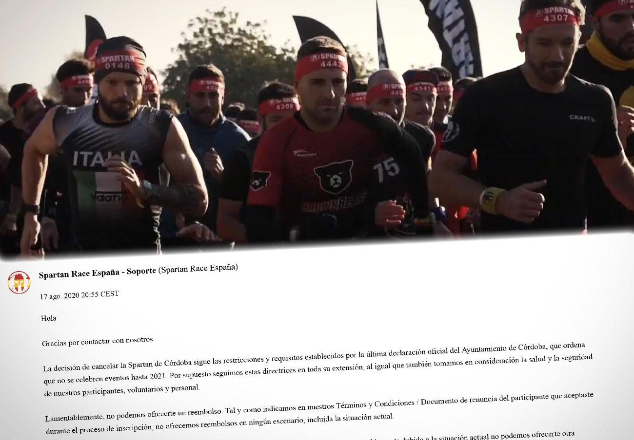 FACUA Córdoba denuncia a Spartan Race España por no devolver el importe de su carrera cancelada