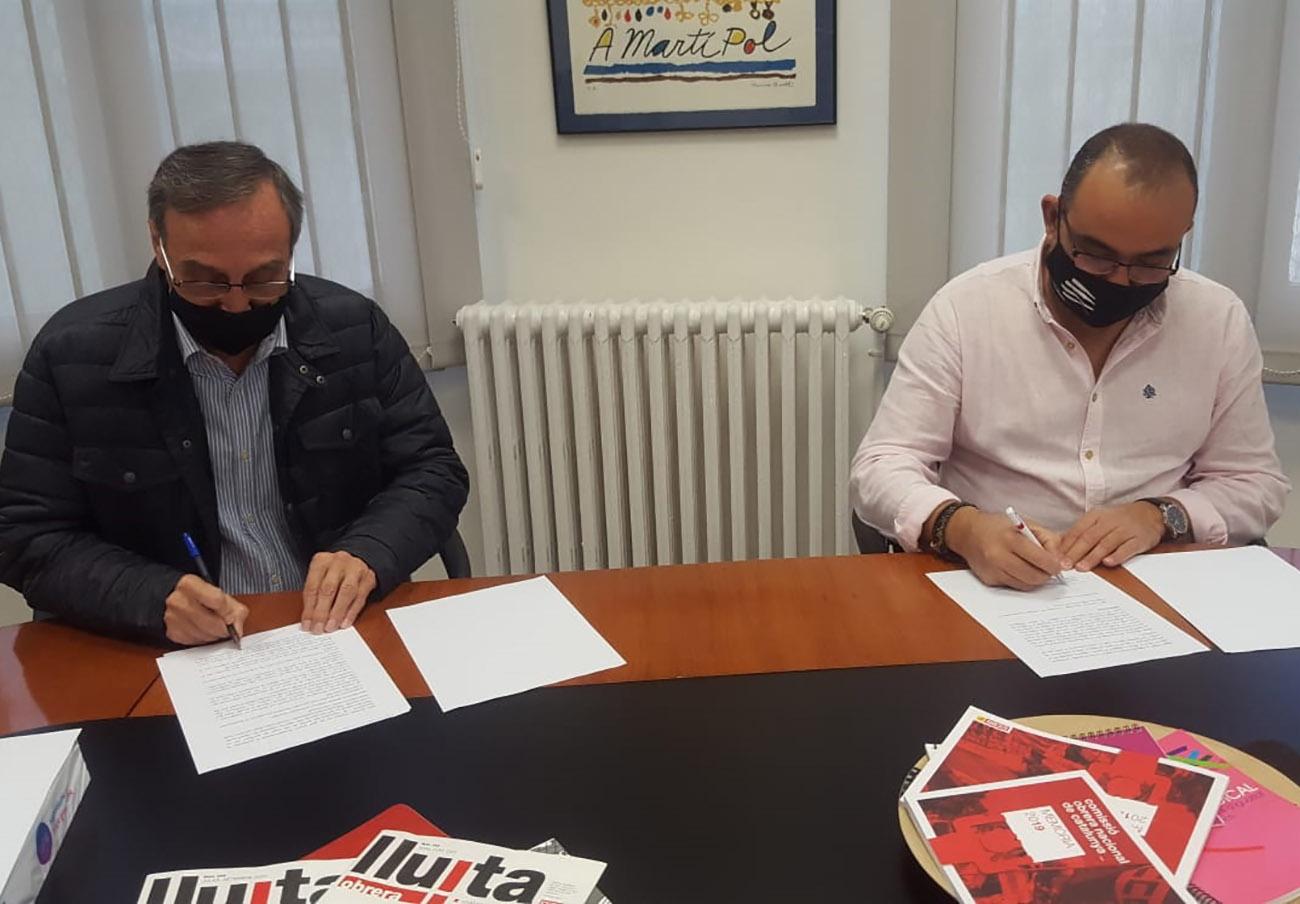 FACUA Catalunya firma un convenio de colaboración con CCOO de Cataluña