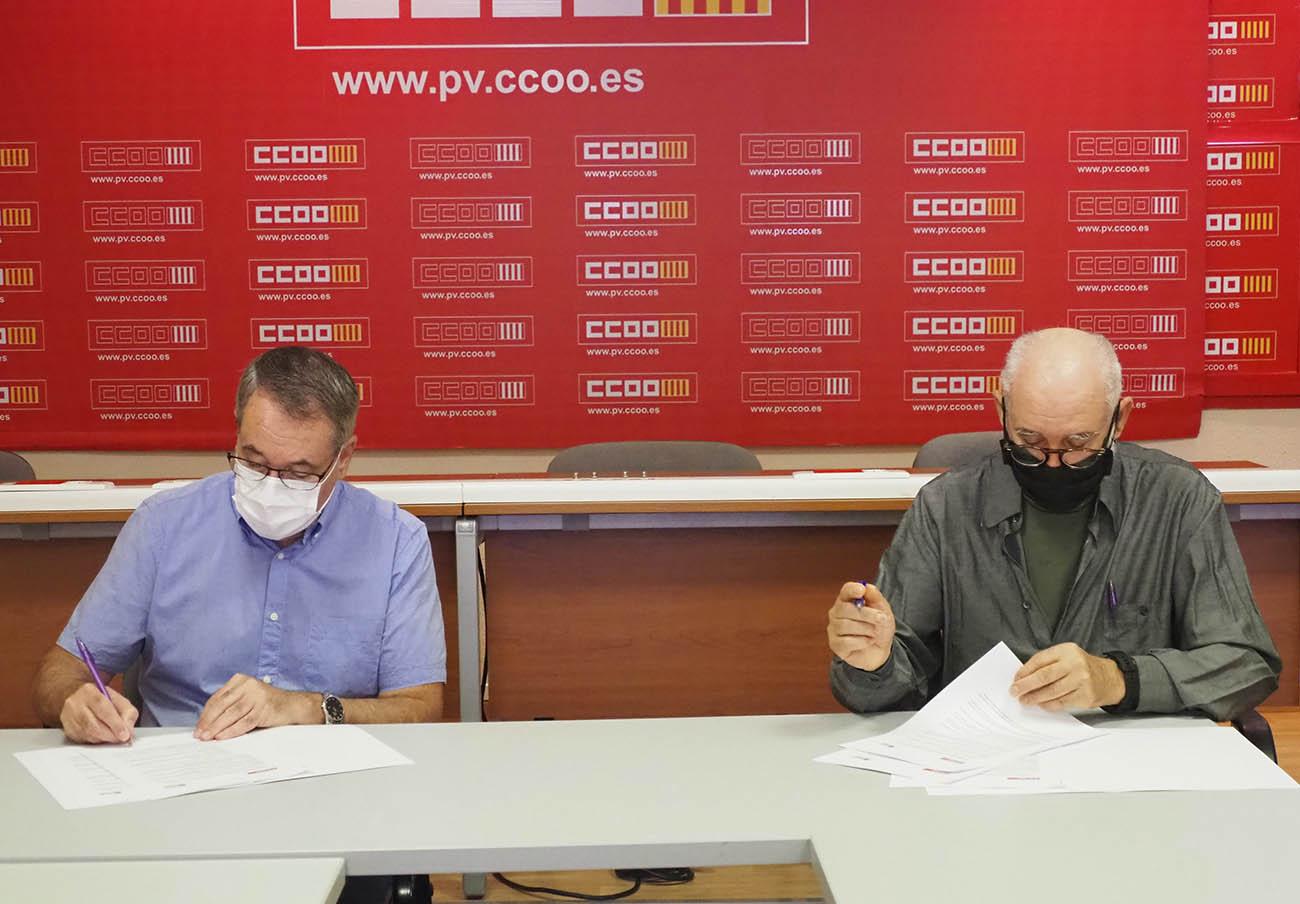 FACUA Comunidad Valenciana y CCOO PV firman un convenio de colaboración