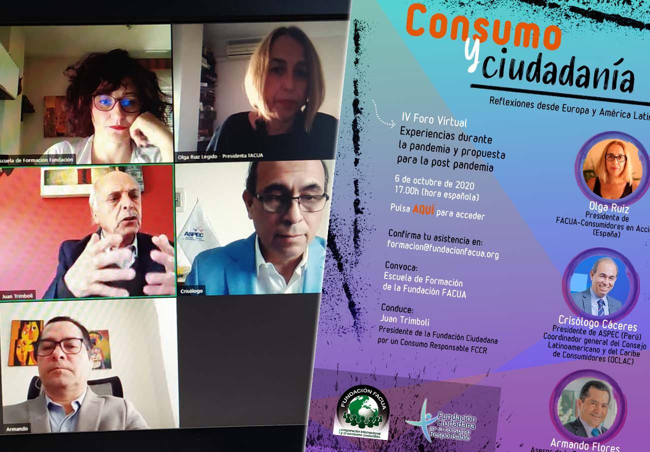 4º Foro de debate internacional: 'Experiencias durante la pandemia y propuesta para la post pandemia'