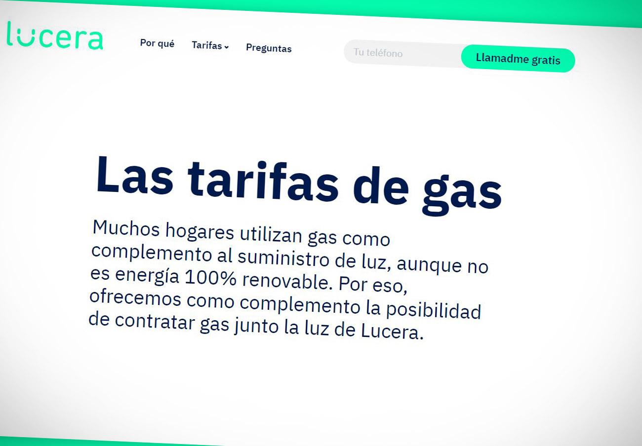 """Tras la denuncia de FACUA, Lucera elimina la expresión """"las tarifas más baratas"""" de su publicidad de gas"""