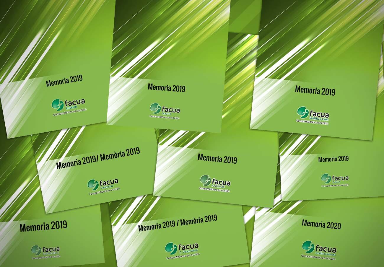 Las organizaciones territoriales integradas en FACUA publican sus memorias anuales de actividades