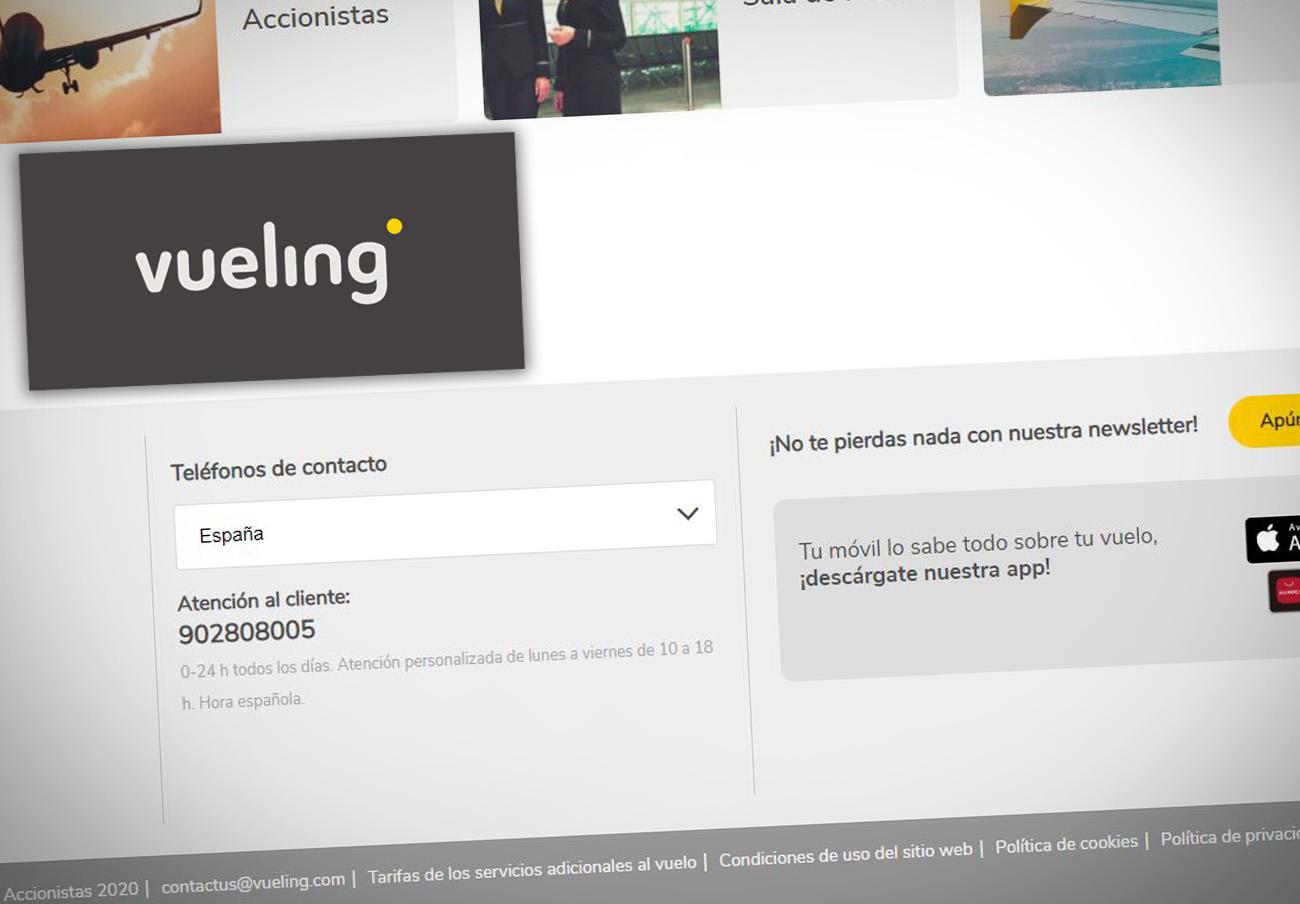 Vueling, primera empresa denunciada por FACUA en 2021: sigue sin sustituir su 902 por una línea gratuita