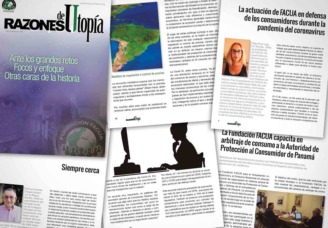 La Fundación FACUA publica el sexto número de su revista 'Razones de Utopía'