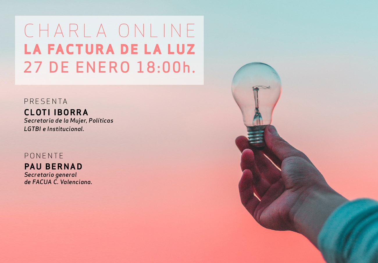 FACUA Comunidad Valenciana imparte una charla online sobre la factura de la luz