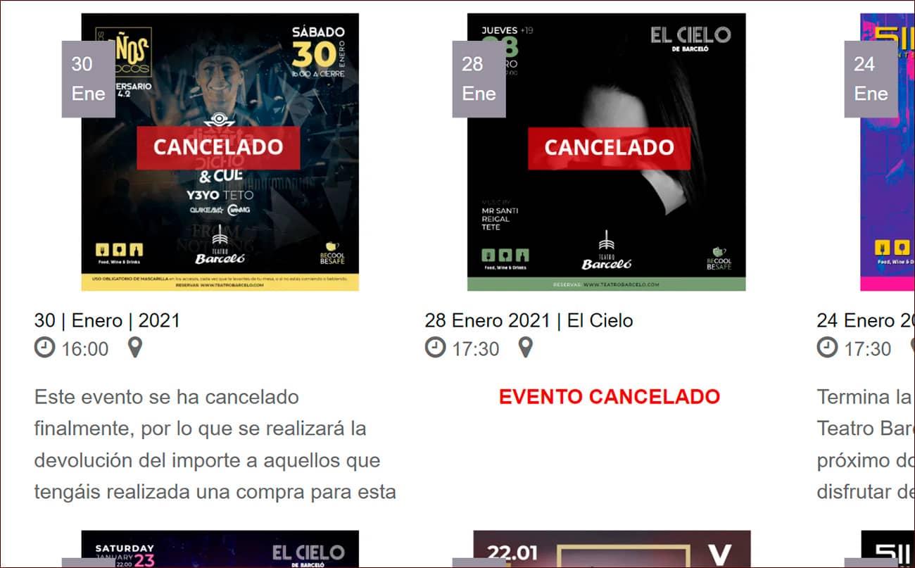 Tras la repercusión de las irregularidades y la denuncia de FACUA, Teatro Barceló suspende sus eventos