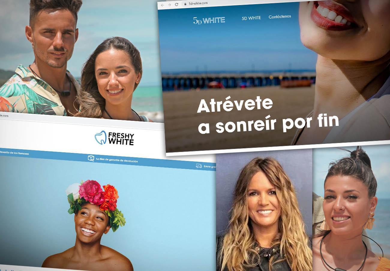 FACUA denuncia a cuatro famosos y dos webs por publicidad ilícita de supuestos blanqueadores dentales