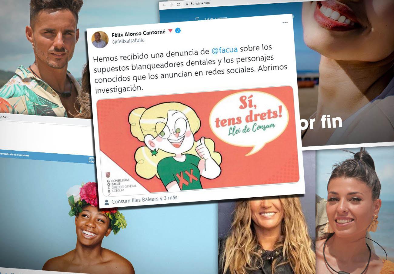 Tras la denuncia de FACUA, Baleares investiga los supuestos blanqueadores dentales anunciados por famosos