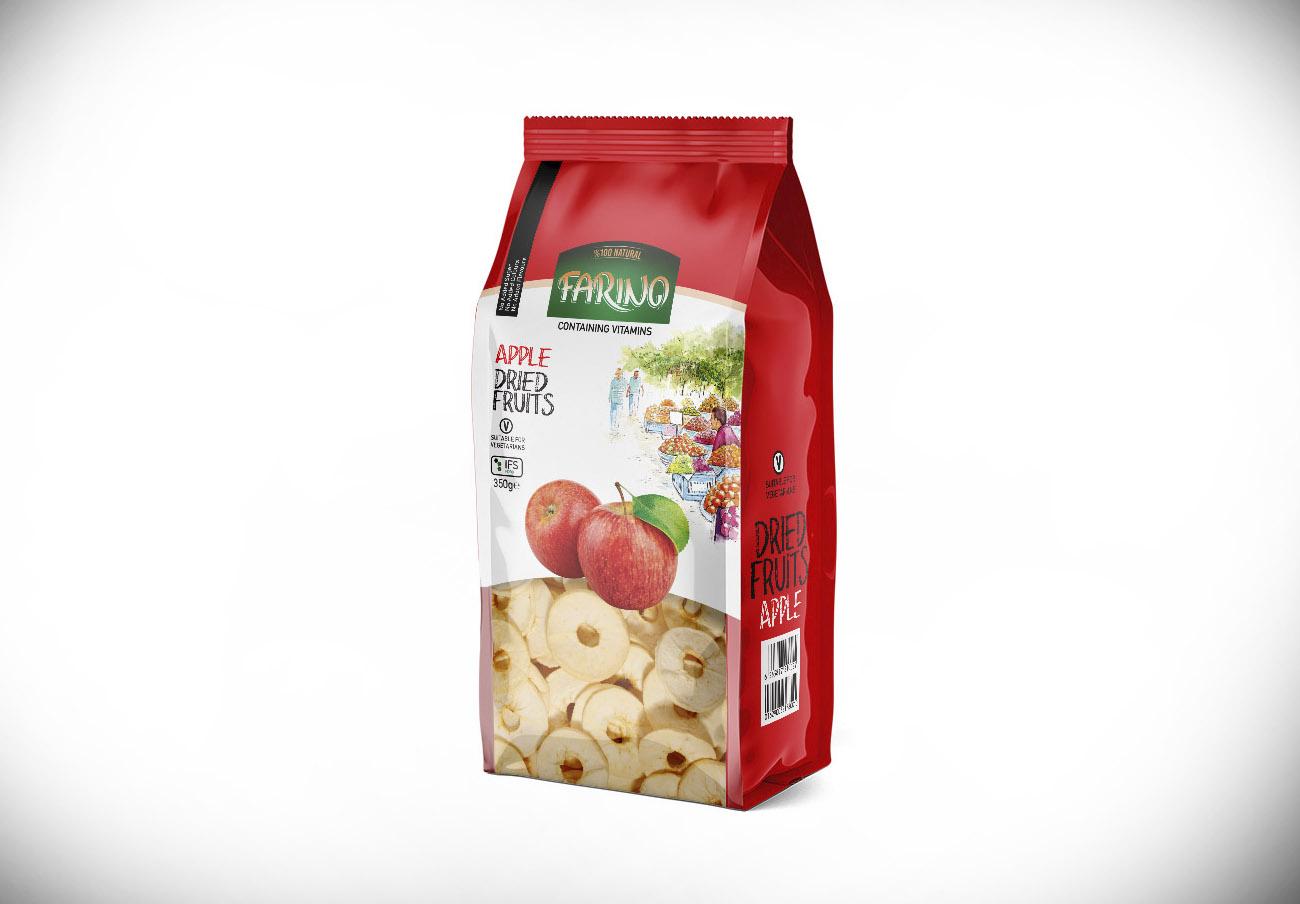 Alertan de la presencia de sulfitos no declarados en el etiquetado de manzanas desecadas marca Farino